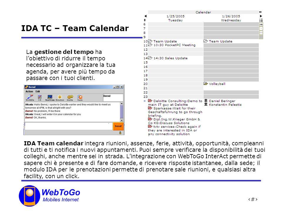 IDA TC – Team Calendar
