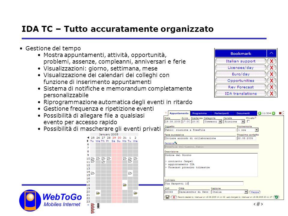IDA TC – Tutto accuratamente organizzato