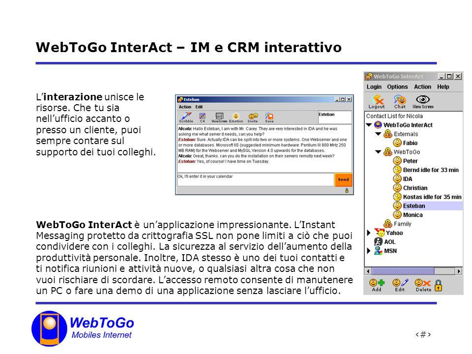 WebToGo InterAct – IM e CRM interattivo