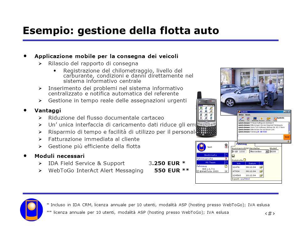Esempio: gestione della flotta auto