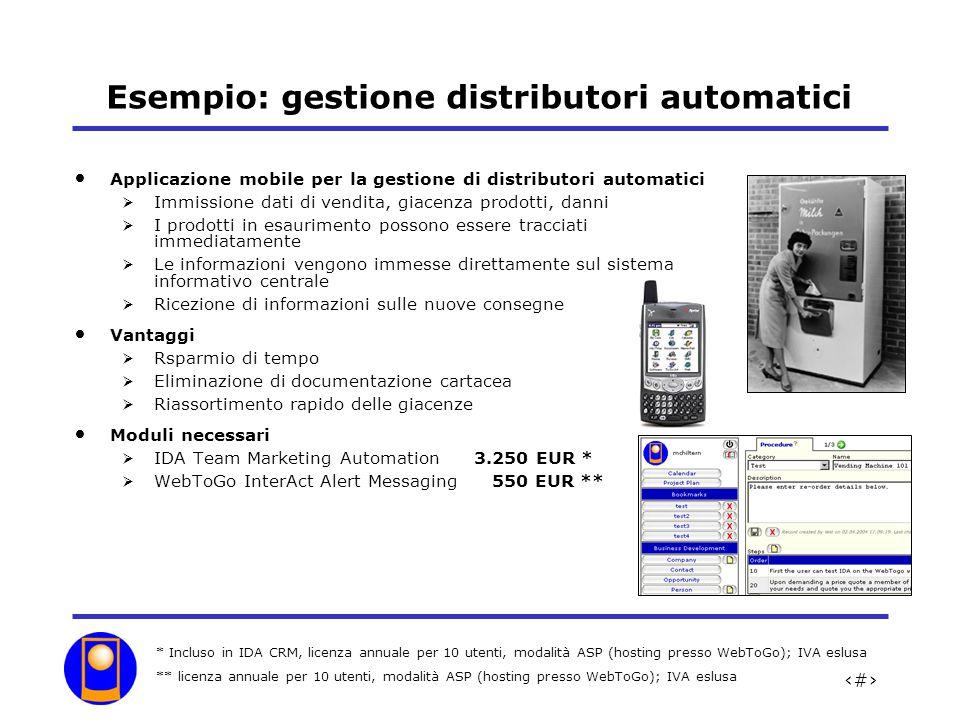 Esempio: gestione distributori automatici