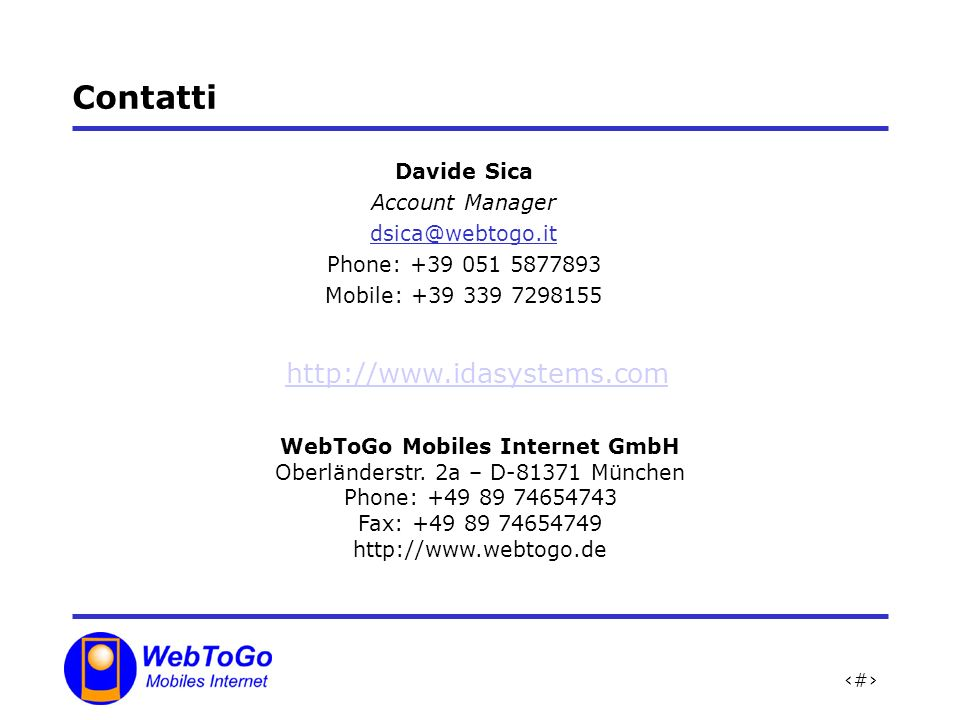 WebToGo Mobiles Internet GmbH