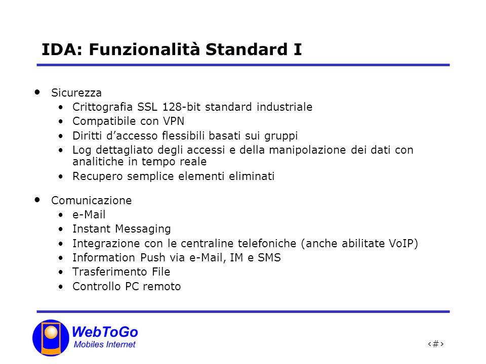 IDA: Funzionalità Standard I