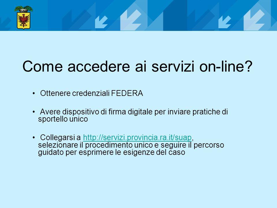 Come accedere ai servizi on-line