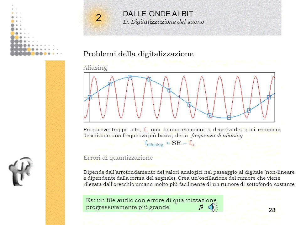 2 DALLE ONDE AI BIT Problemi della digitalizzazione 