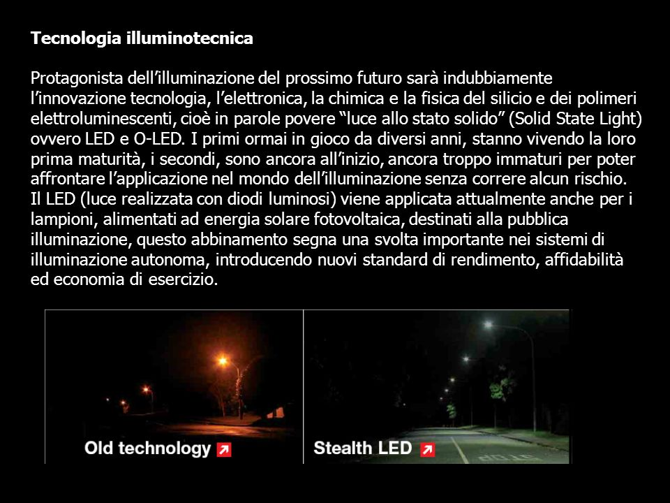 Tecnologia illuminotecnica
