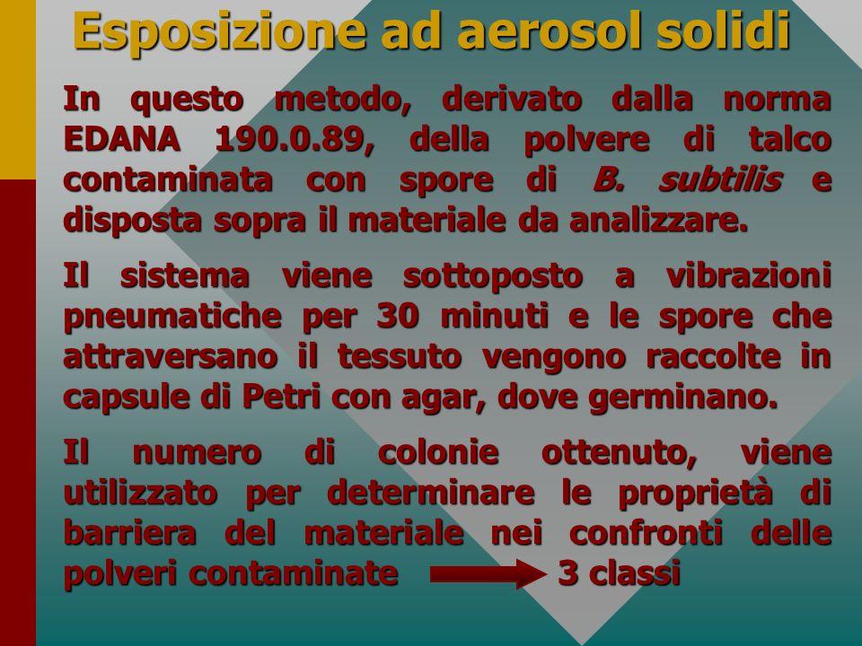 Esposizione ad aerosol solidi