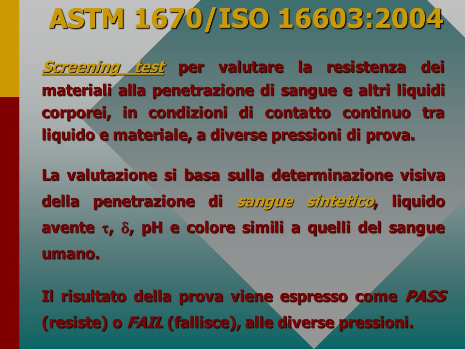 ASTM 1670/ISO 16603:2004