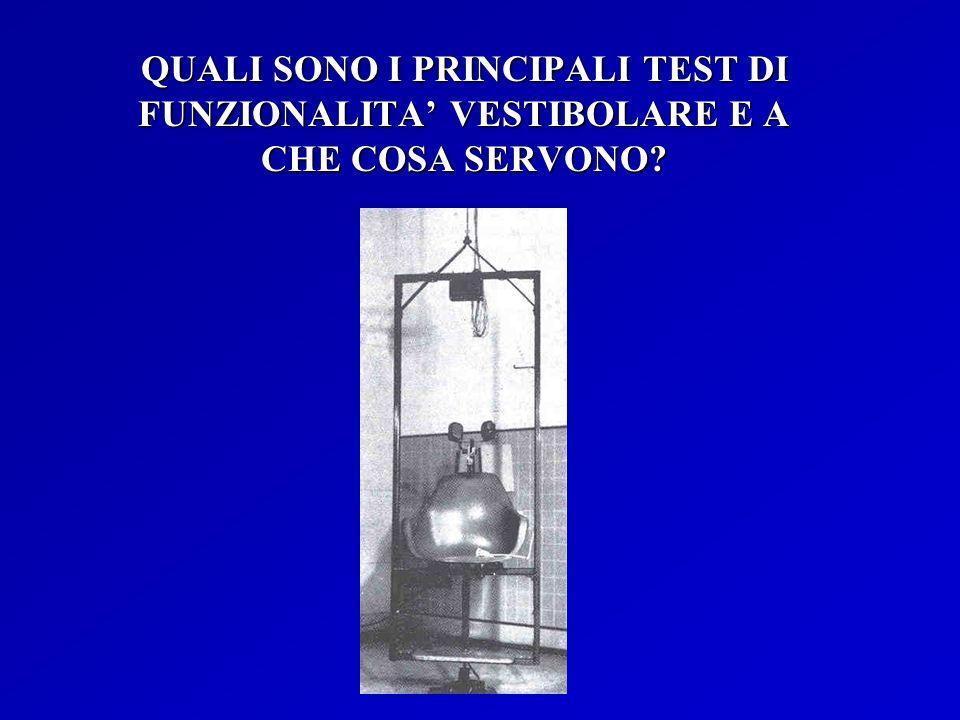 QUALI SONO I PRINCIPALI TEST DI FUNZIONALITA' VESTIBOLARE E A CHE COSA SERVONO