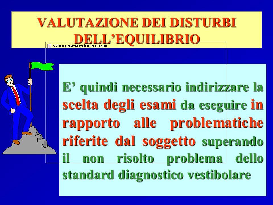 VALUTAZIONE DEI DISTURBI DELL'EQUILIBRIO