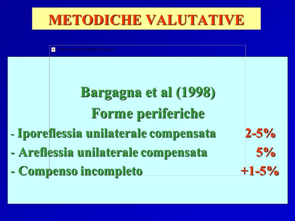 METODICHE VALUTATIVE Bargagna et al (1998) Forme periferiche