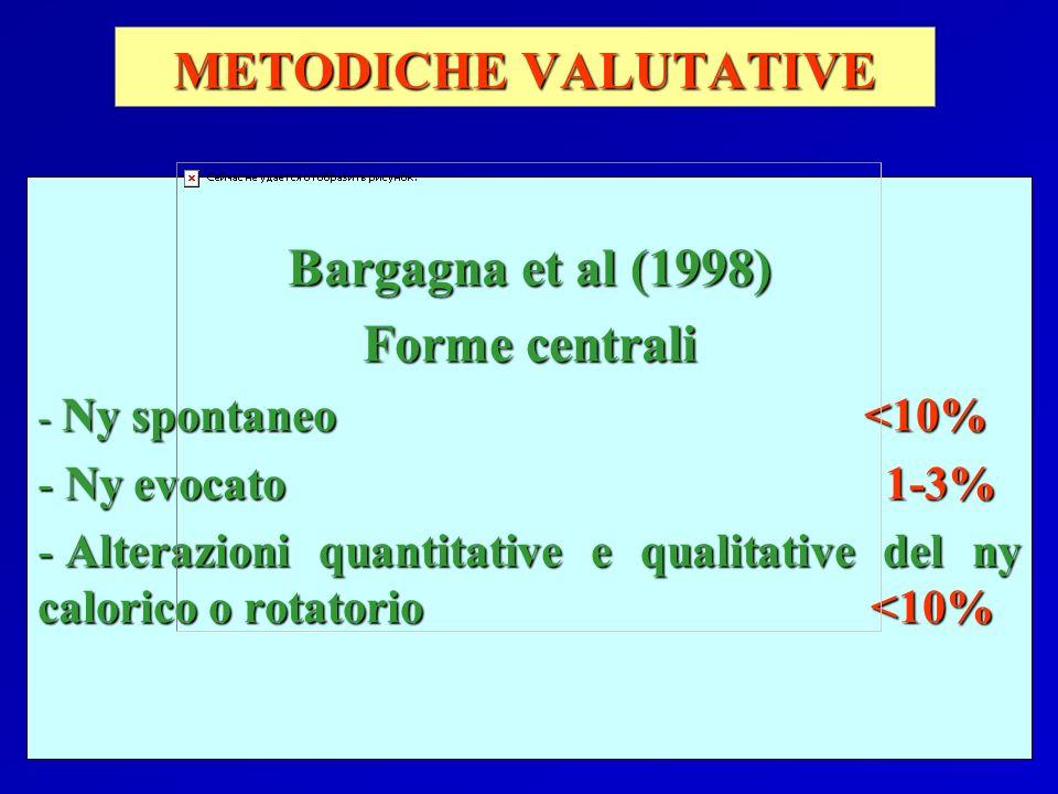 METODICHE VALUTATIVE Bargagna et al (1998) Forme centrali