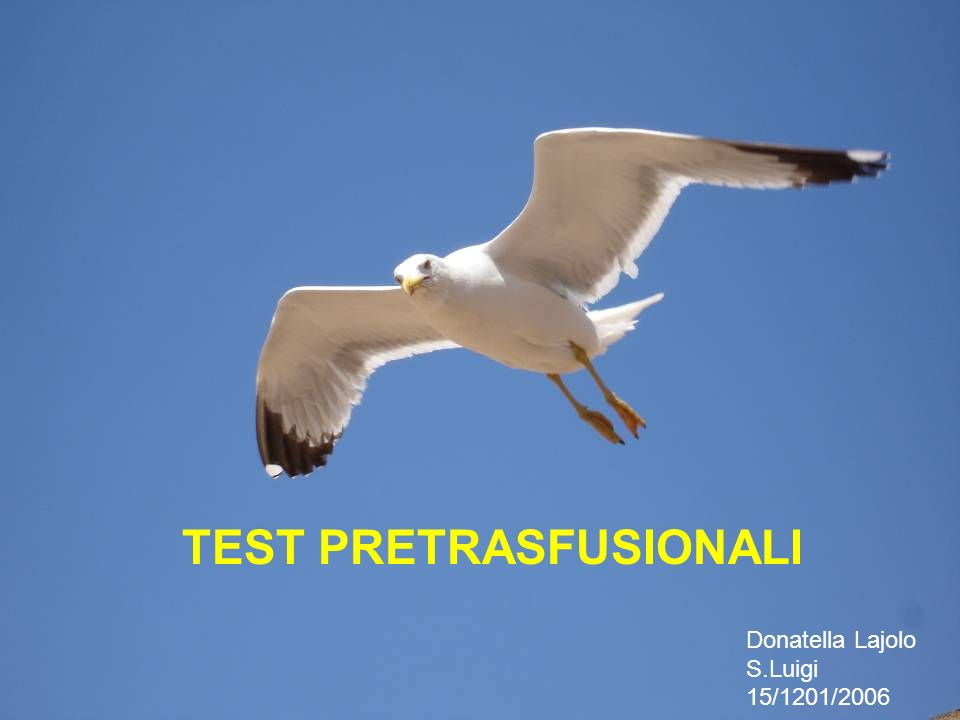 TEST PRETRASFUSIONALI