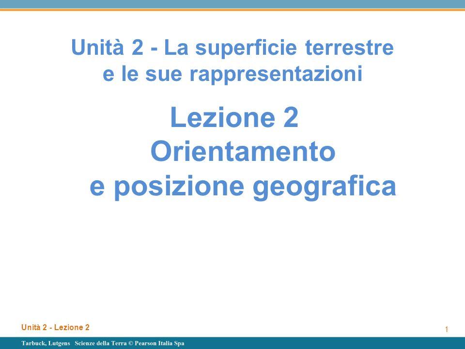 Unità 2 - La superficie terrestre e le sue rappresentazioni