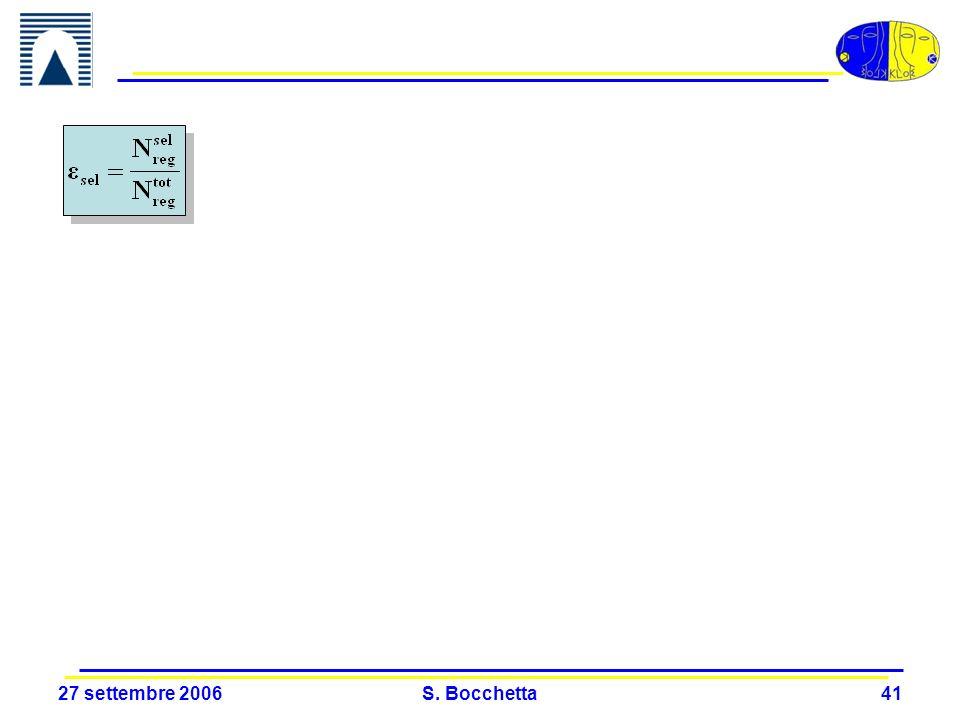 27 settembre 2006 S. Bocchetta