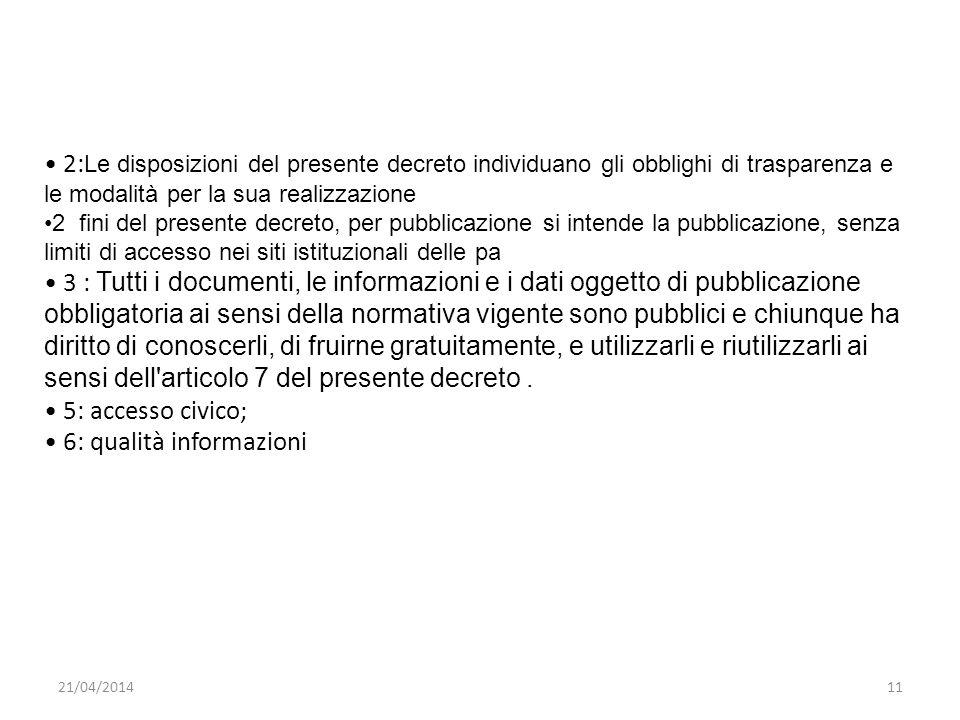 • 6: qualità informazioni