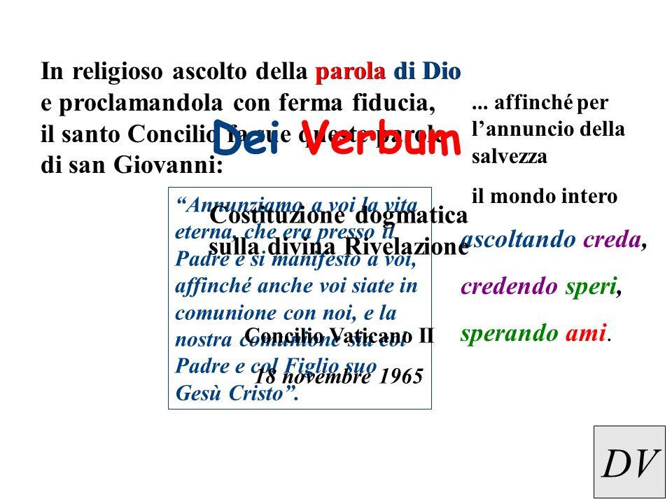 Costituzione dogmatica sulla divina Rivelazione