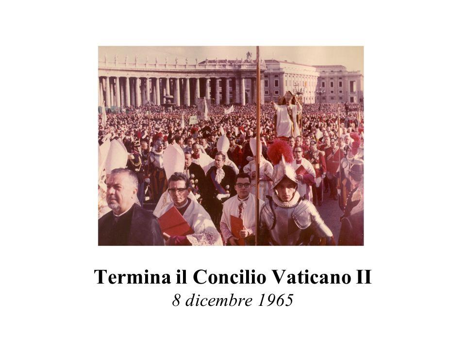 Termina il Concilio Vaticano II 8 dicembre 1965