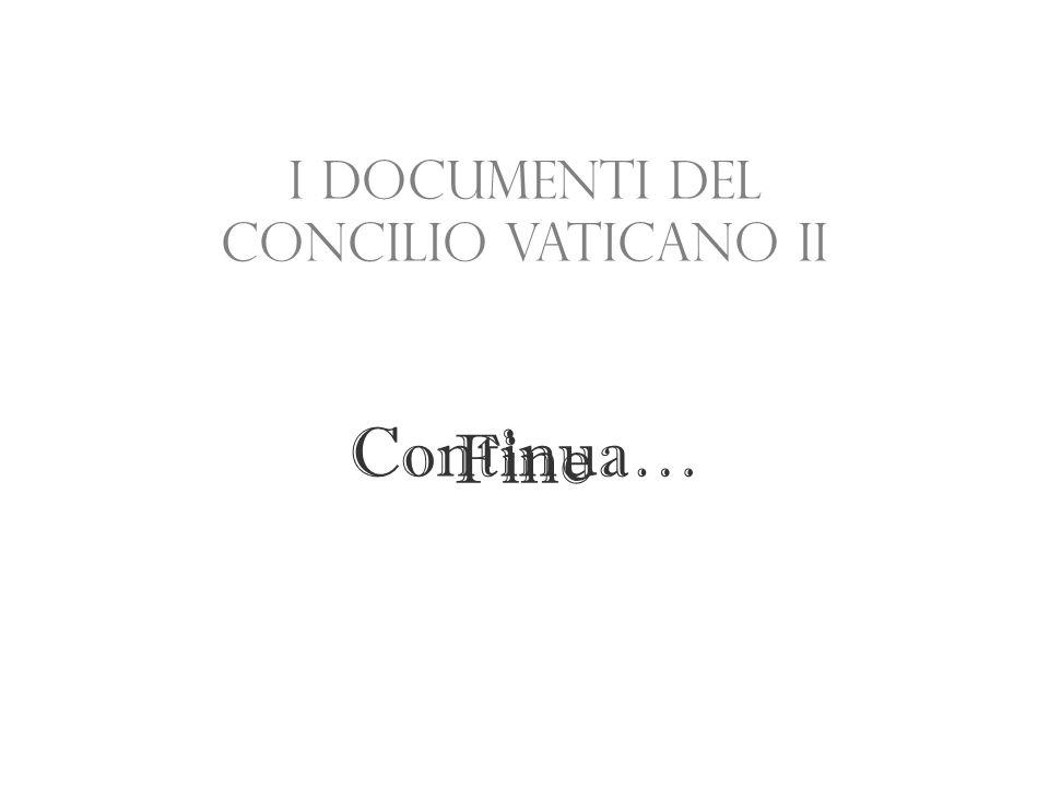 I documenti del Concilio Vaticano II