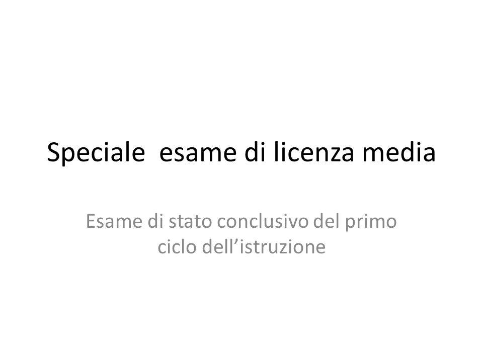Speciale esame di licenza media