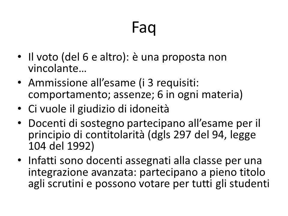 Faq Il voto (del 6 e altro): è una proposta non vincolante…