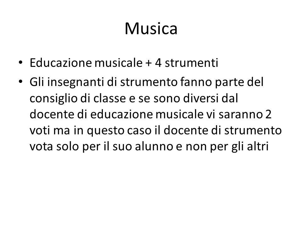 Musica Educazione musicale + 4 strumenti