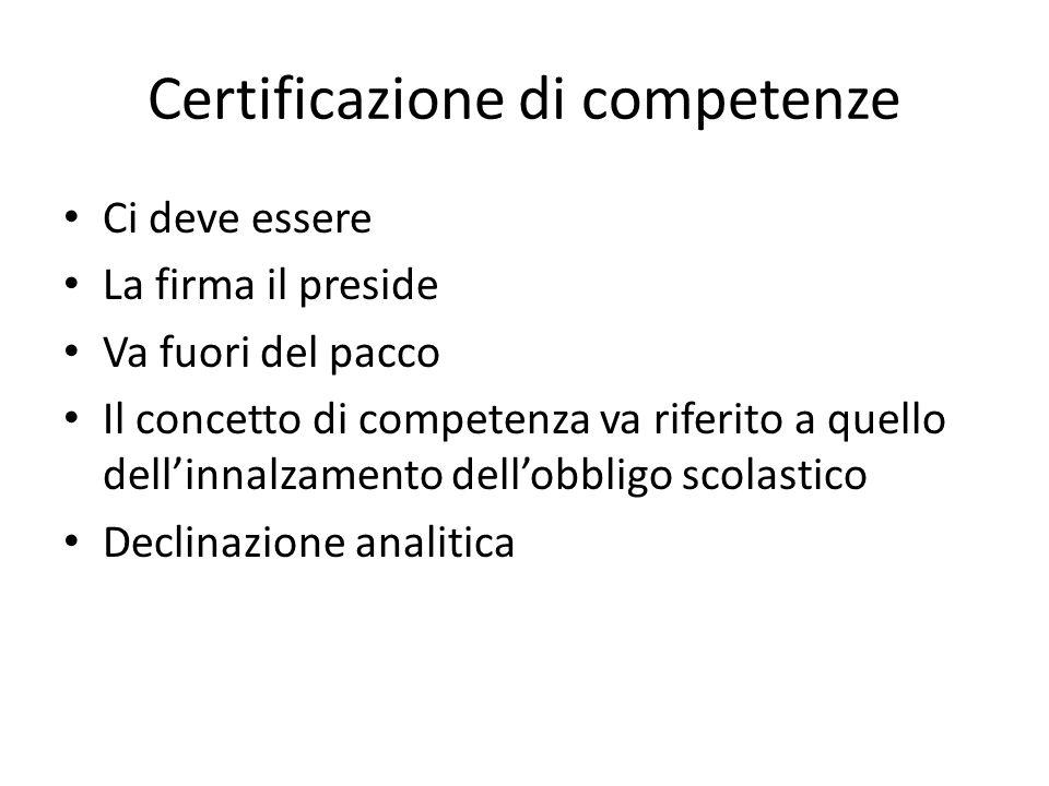 Certificazione di competenze