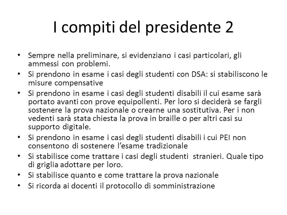 I compiti del presidente 2