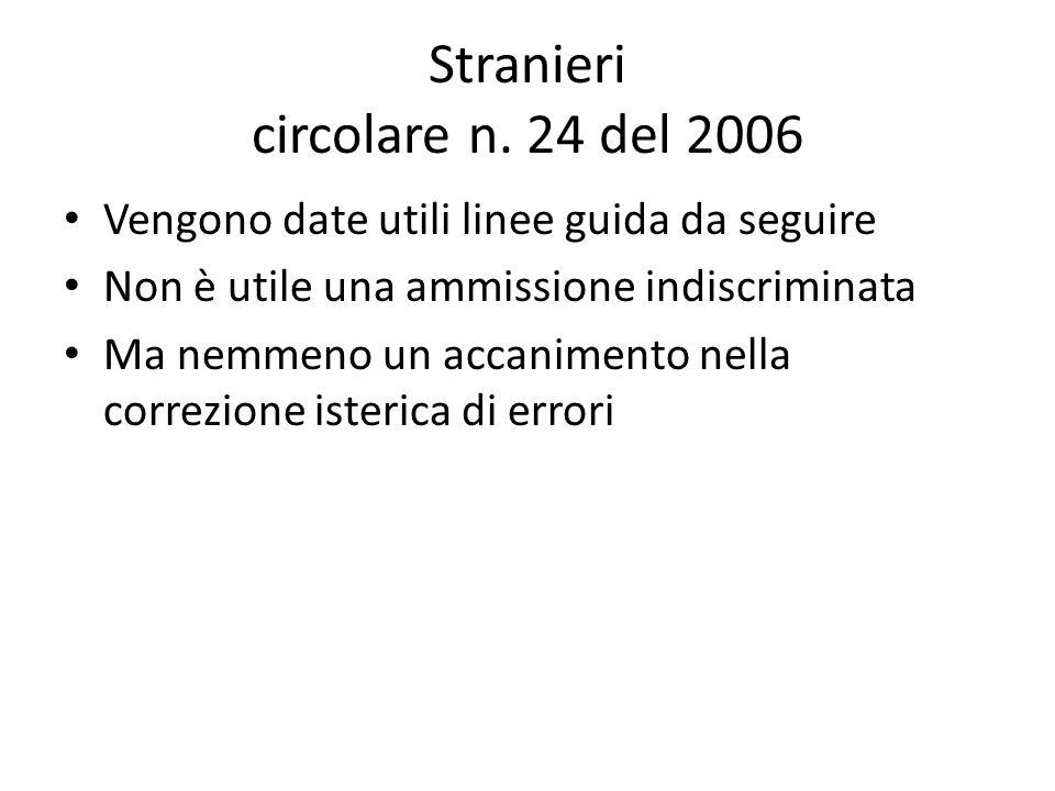Stranieri circolare n. 24 del 2006