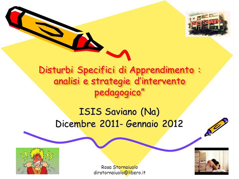 ISIS Saviano (Na) Dicembre 2011- Gennaio 2012