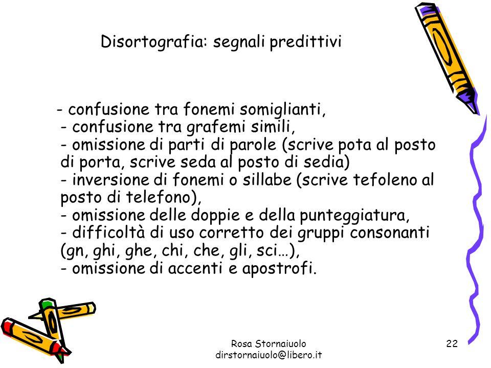 Disortografia: segnali predittivi