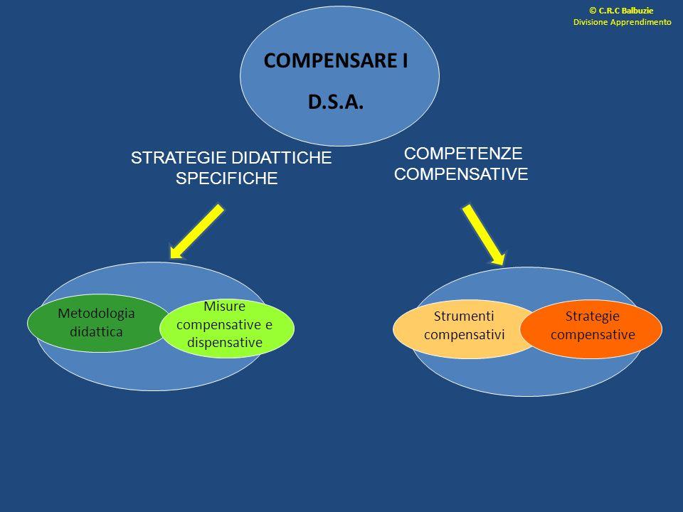 COMPENSARE I D.S.A. COMPETENZE COMPENSATIVE