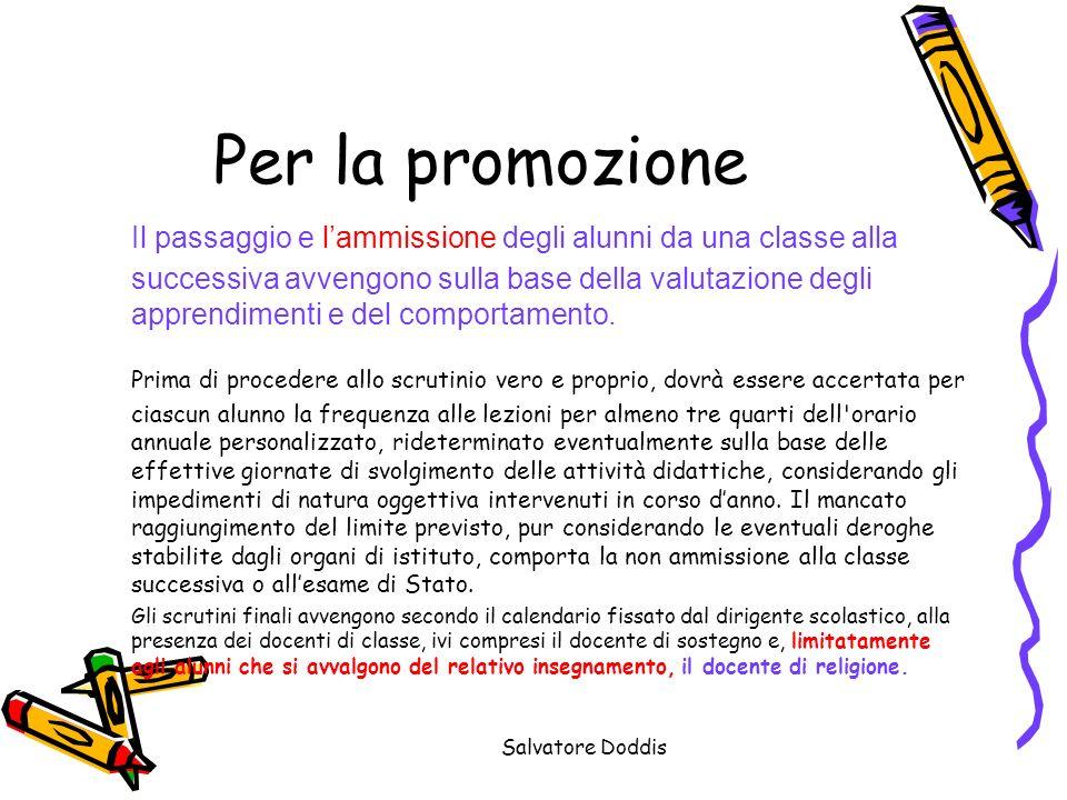Per la promozione