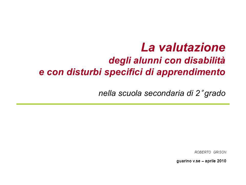 La valutazione degli alunni con disabilità