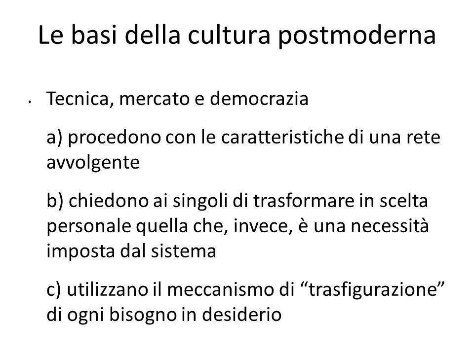 Le basi della cultura postmoderna