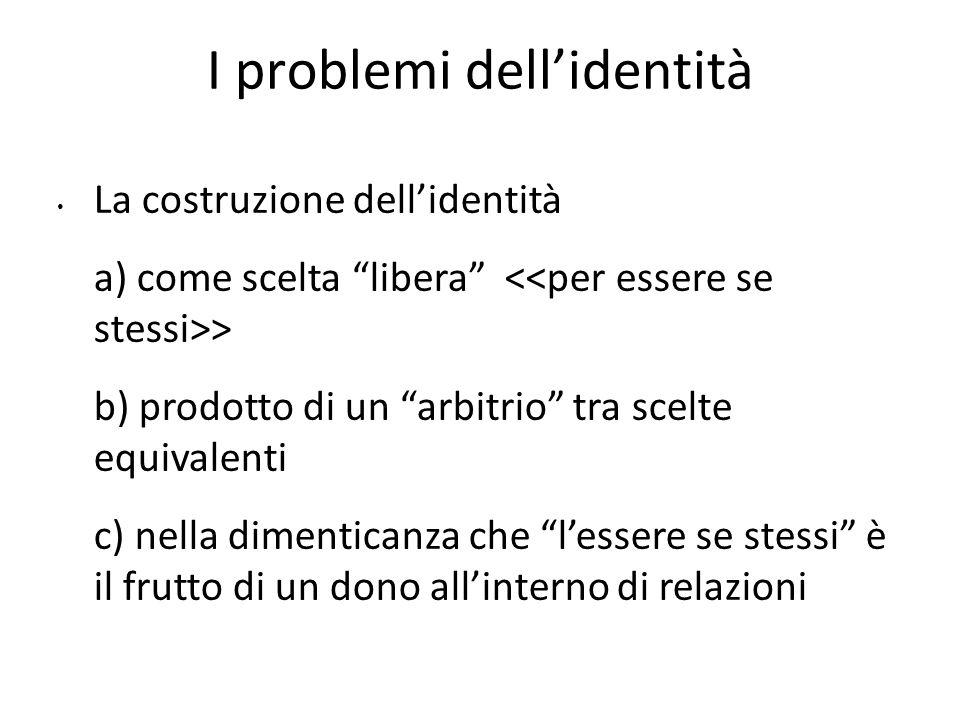 I problemi dell'identità