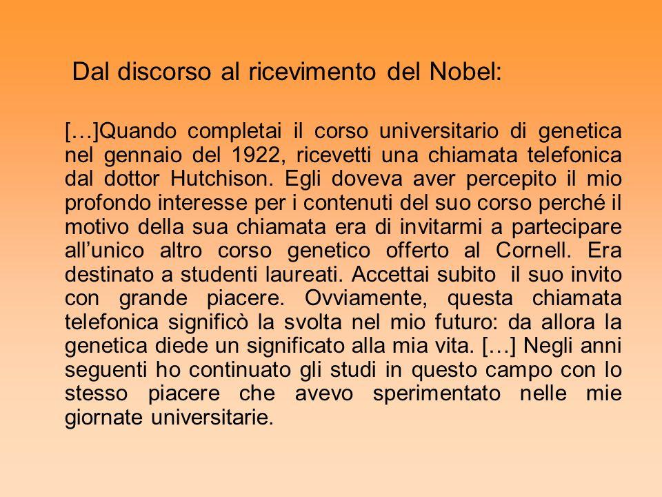Dal discorso al ricevimento del Nobel: