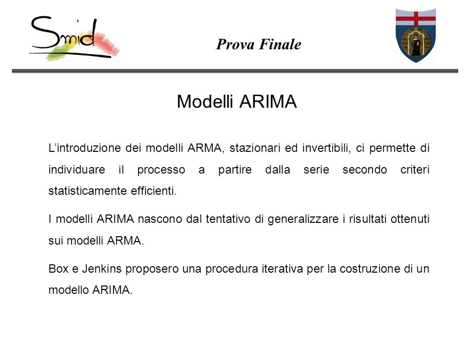 Modelli ARIMA Prova Finale