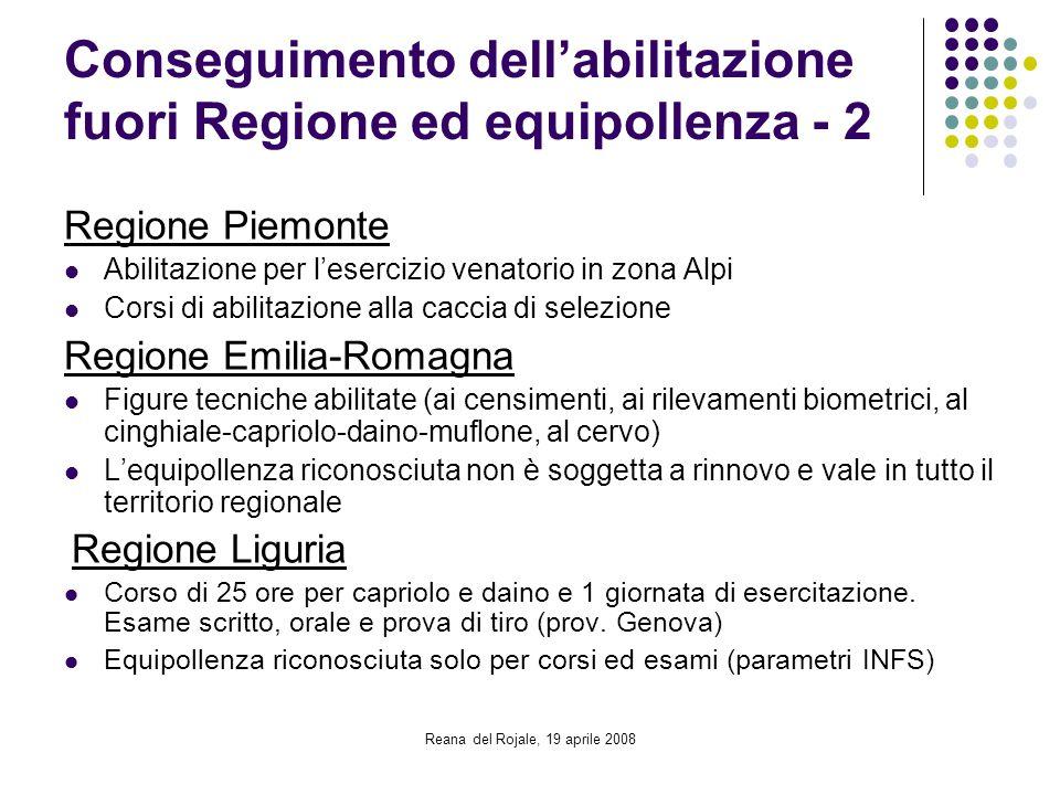 Conseguimento dell'abilitazione fuori Regione ed equipollenza - 2
