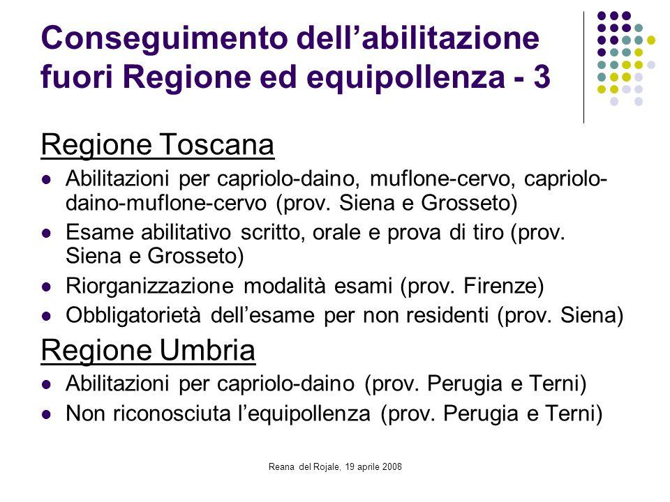 Conseguimento dell'abilitazione fuori Regione ed equipollenza - 3