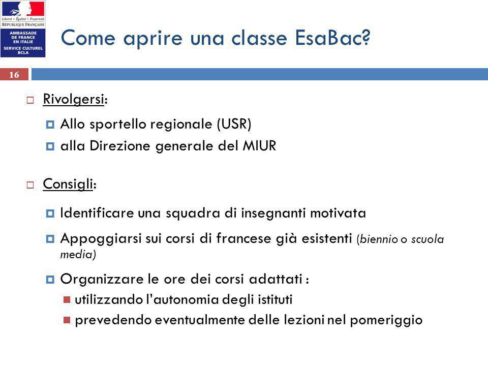 Come aprire una classe EsaBac