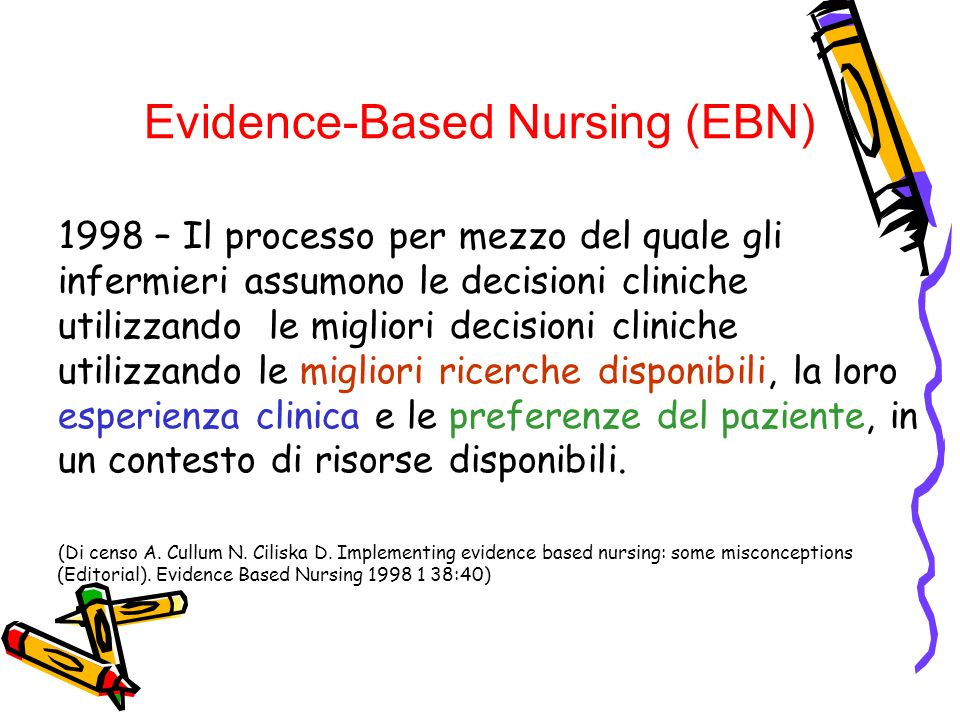 Evidence-Based Nursing (EBN)‏
