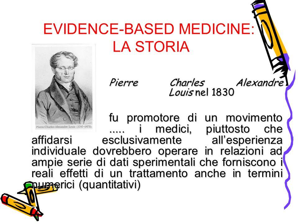 EVIDENCE-BASED MEDICINE: LA STORIA