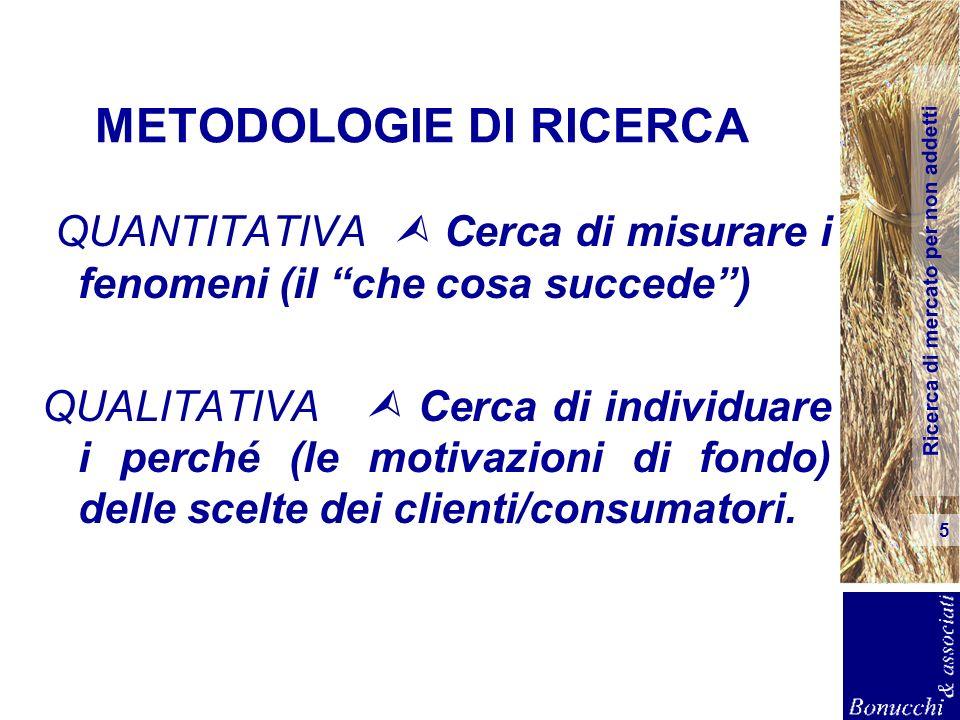 METODOLOGIE DI RICERCA