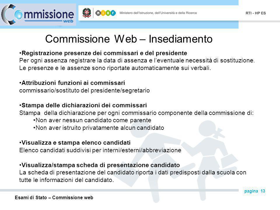 Commissione Web – Insediamento