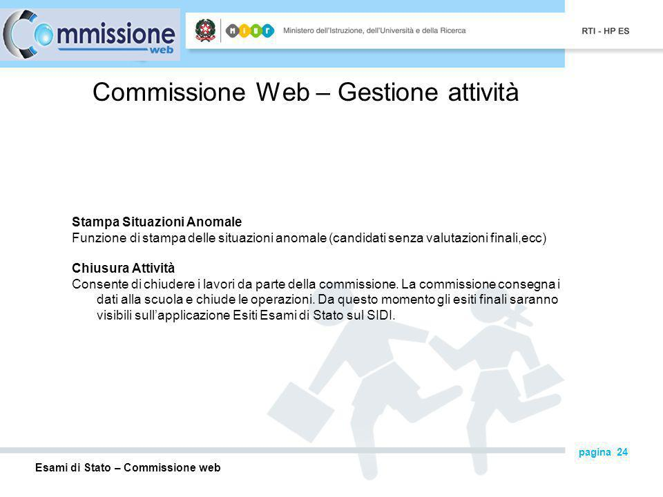 Commissione Web – Gestione attività