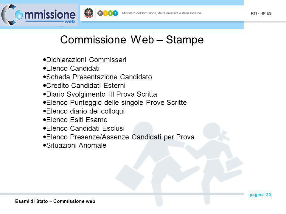 Commissione Web – Stampe