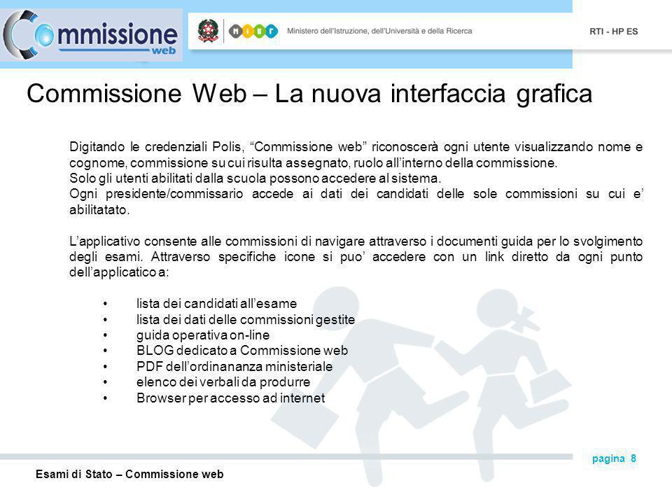 Commissione Web – La nuova interfaccia grafica