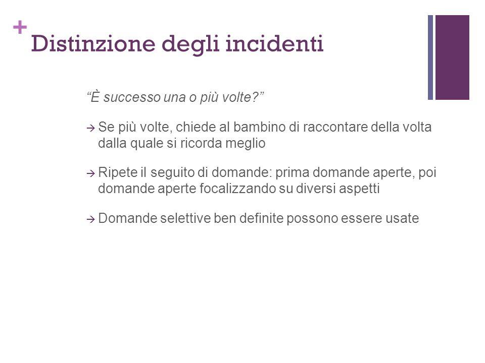 Distinzione degli incidenti
