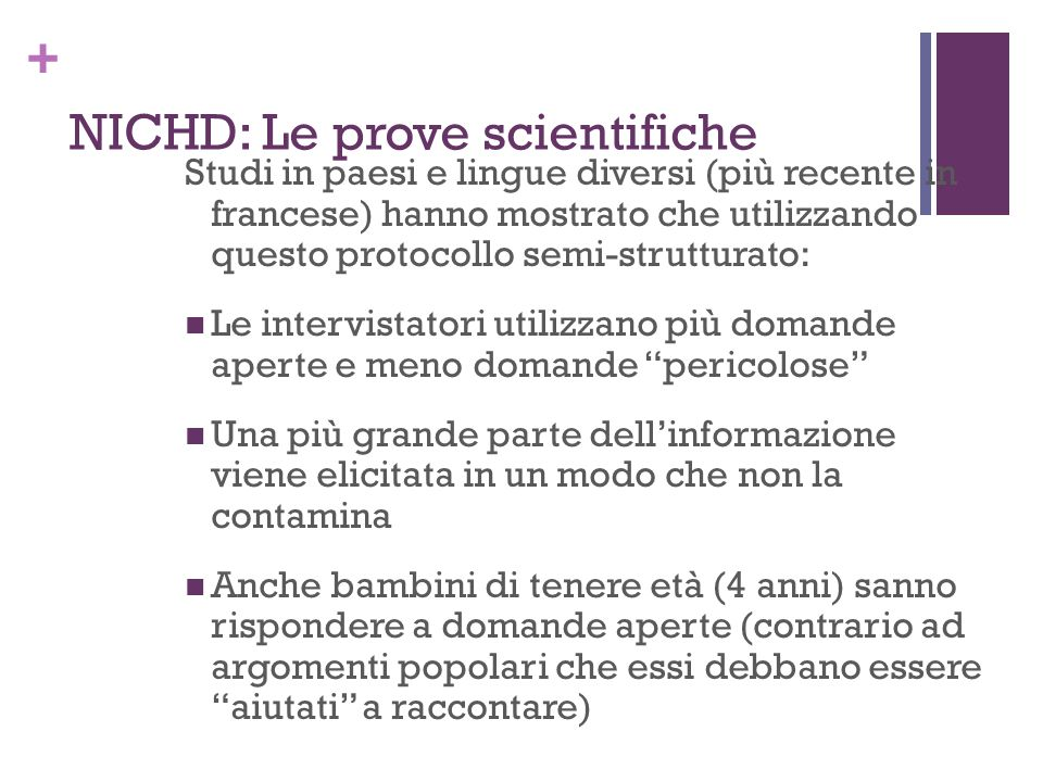 NICHD: Le prove scientifiche